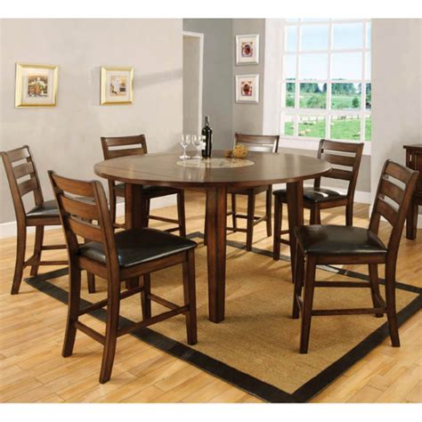 Counter Height Dining Set With Lazy Susan Acacia Dining Counter Height Dining Table And Chairs With Lazy Susan