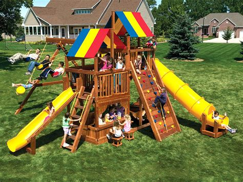 king kong swing set residential swingsets rainbow swing set superstores