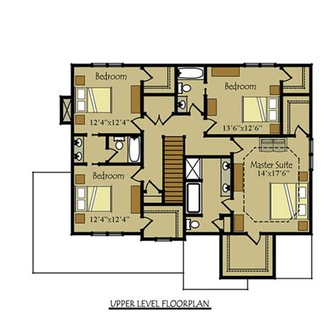 4 bedroom floor plans 2 story two story four bedroom house plan with garage