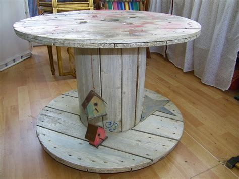 Table En Bobine De Cable by Bobine Bricocustodeco By Christine