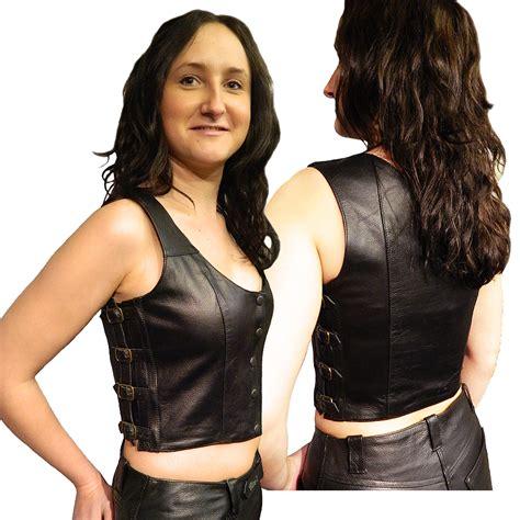 Ladies Jada Leather Top