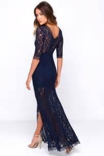 lace maxi dress gorgeous navy blue dress lace dress half sleeve dress maxi dress 64 00
