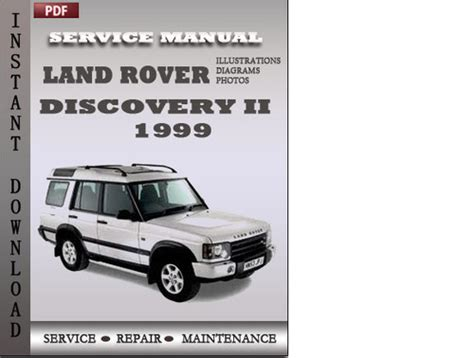 car repair manuals download 2001 land rover discovery spare parts catalogs land rover discovery 2 1999 factory service manual download downl