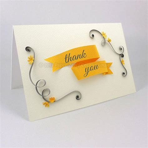 printable thank you card paper printable quilled by cecelia louie paper crafts pattern