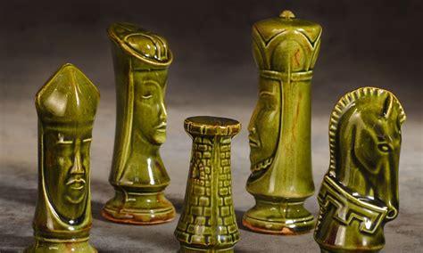 mid century modern chess set the garage sale archeologist mid century modern chess set