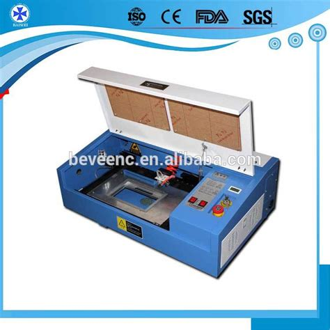 machine to make id cards 40w held table top cheap small co2 laser