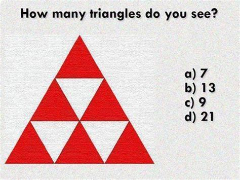 how does a see count how many triangles do you see in this picture web cool tips