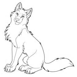 coloring anime wolf group coloring pages