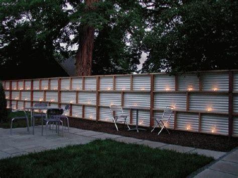 Corrugated metal fence home design ideas