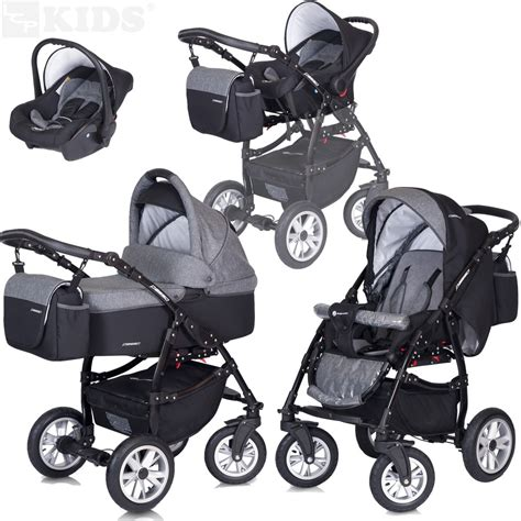 Set 3in1 1 pram pushchair 3in1 set stroller car seat passo premium travel system ebay