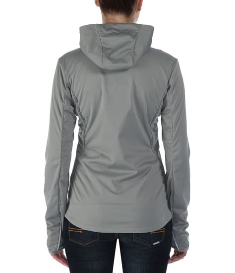 bench hooded jacket bench enduring hooded softshell jacket in gray grey lyst