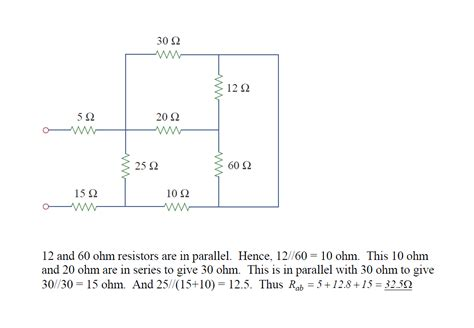 a 60 ohm resistor is connected in parallel three 60 ohm resistors are connected in parallel what is their equivalent resistance 28 images
