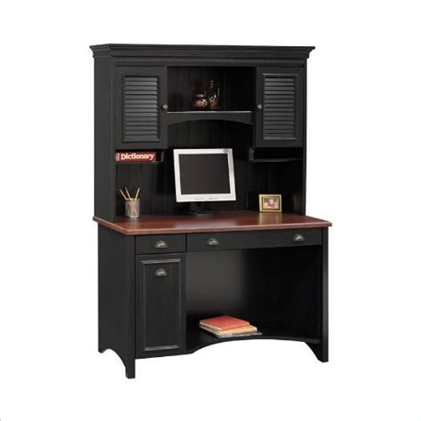 black computer desk with hutch review