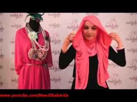 tutorial turban ninja instan cara memakai jilbab turban ninja instant pink ala nuhijab