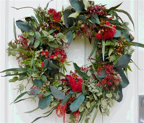 artificial australian native christmas wreath diy australian wreath interiors