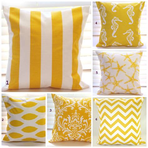 pillows decor yellow pillows throw pillows by