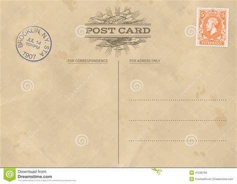 Post Card Templates For Illustrator by Vector Vintage Postcard Template Stock Vector Image