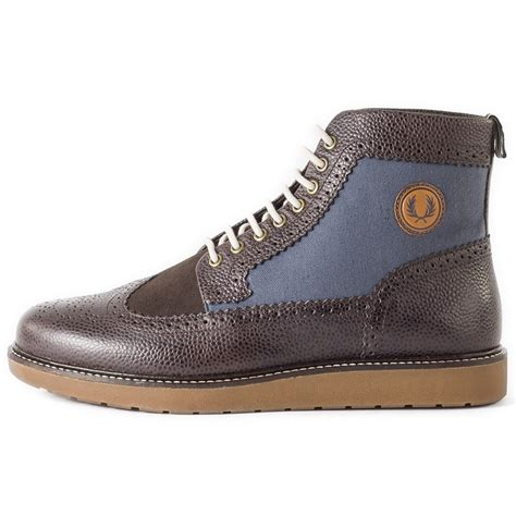 fred perry northgate scotchgrain mens ankle boots in
