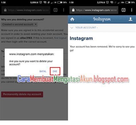 akun instagram tutorial rambut cara menghapus akun instagram permanen sementara lewat hp