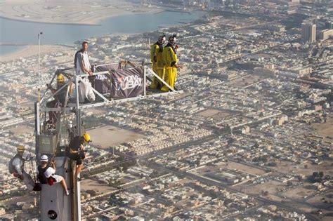 Inside Burj Al Arab by Skydive Dubai Sets World Record By Base Jumping Off Of