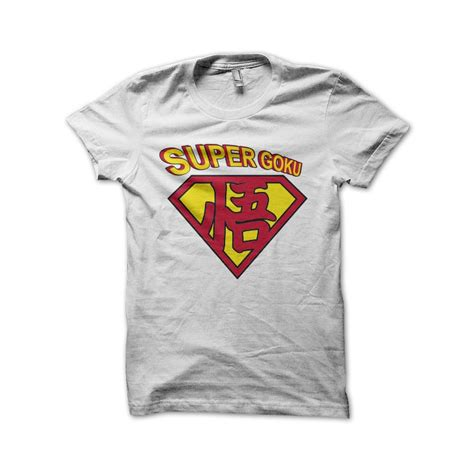Tshirt Supermen White goku superman t shirt white