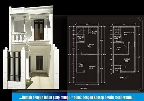 desain rumah minimalis lebar  meter