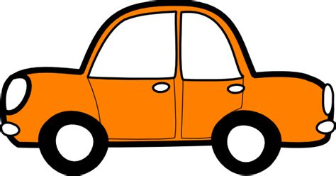 clipart auto orange car clip at clker vector clip