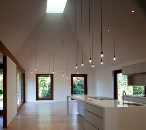 pendant lights for high ceilings cords lighting simple design but with a big impact