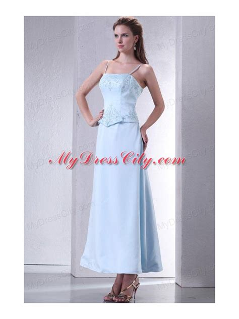 light blue spaghetti strap prom dress light blue empire spaghetti straps prom dress with
