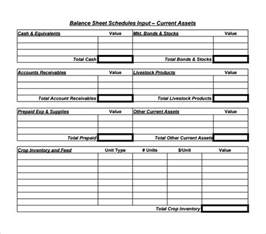 free balance sheet template sle balance sheet 11 documents in word pdf excel