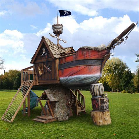 backyard pirate ship pirate ship tree playhouse by wood land extravaganzi