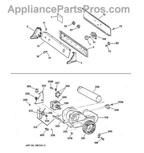 ge dryer parts diagram ge we12m29 dryer drum drive belt appliancepartspros