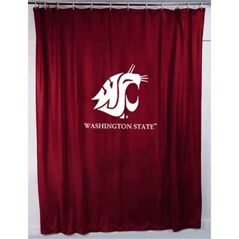 Washington State Cougars Locker Room Shower Curtain