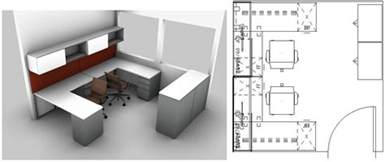 2 Desk Office Layout Small Spaces Design The Small Office Layout For Two Workers In A 10 X 10 Benhar