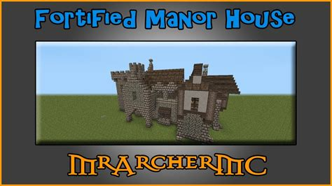 Small House Minecraft Fortified Manor House Minecraft Building Tutorial Youtube