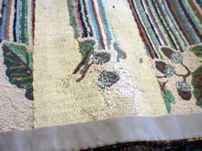 hooked rug repair repairing hooked rugs