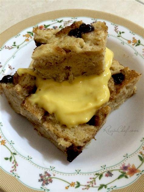 membuat puding roti dengan microwave resepi puding roti cip coklat kukus dengan sos kastad