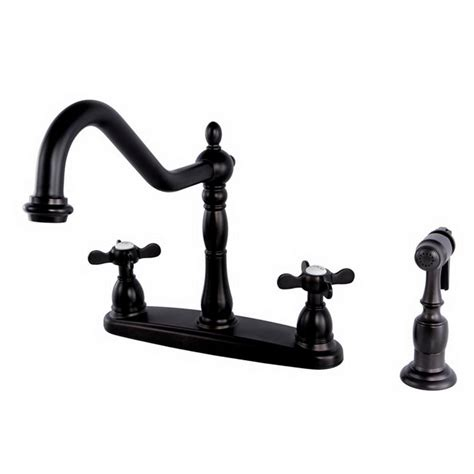 kingston brass victorian 2 handle kitchen faucet in kingston brass victorian english cross 2 handle standard