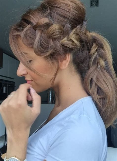 braided hairstyles side ponytail braided ponytail hairstyles for 2016 2017 haircuts