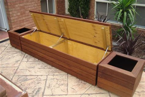 Outdoor Storage Bench Seat Bench Seat With Planter Garden Outdoor Living
