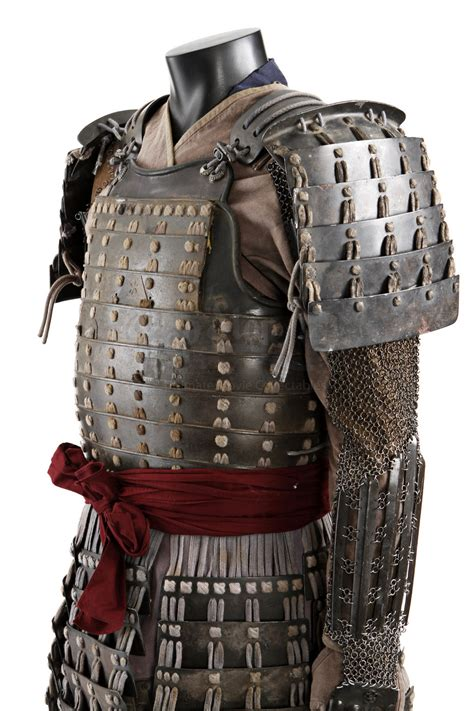 japanese armor pattern green samurai warrior costume with sword prop store