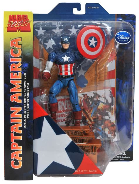 Marvel Select Captain America Disney two new marvel select for disney stores the toyark news