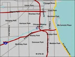 Chicago Midway Airport Map by Chicago Midway Airport Map
