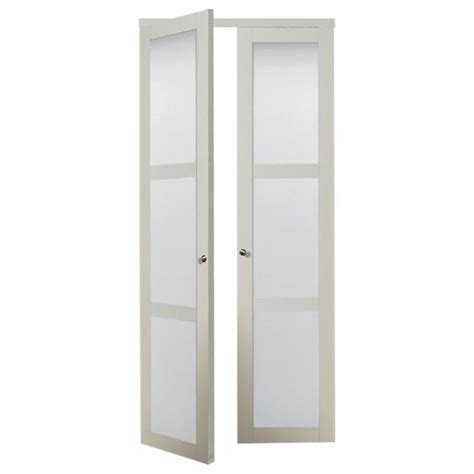 30 X 77 Interior Door shop reliabilt white frosted glass mdf pivot interior