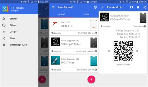 pkpass android android app to view passes