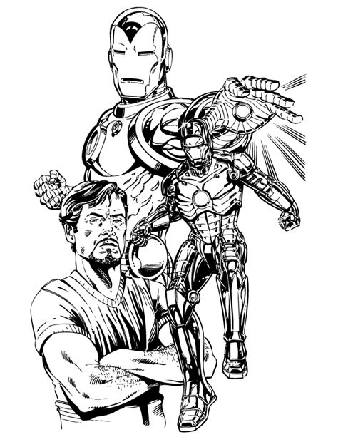 iron man comic coloring pages tony stark and iron man coloring page h m coloring pages