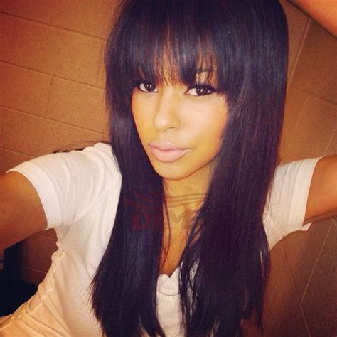 black hairstyles full head best 25 sew in with bangs ideas on pinterest chinese
