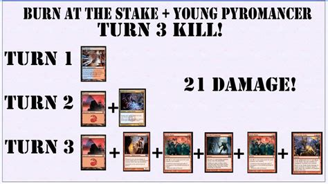 mtg color combinations pyromancer burn at the stake combo possible turn