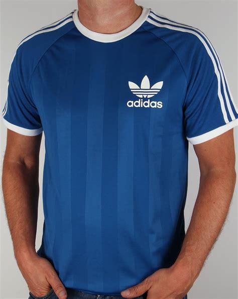 Adidas Tshirt adida skool t shirt royal blue 3 stripe football
