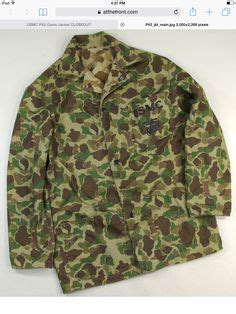 pattern recognition jacket very rare ww2 marines hbt camouflage jacket for
